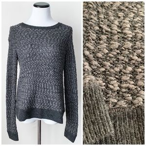 Anthropology Moth grey wool-blend popcorn sweater